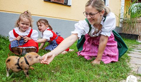 Besuch beim Schweineflüsterer - Mostschenke Speck Alm