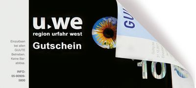 Der UWE GUUTE Gutschein - ein regionales Geschenk